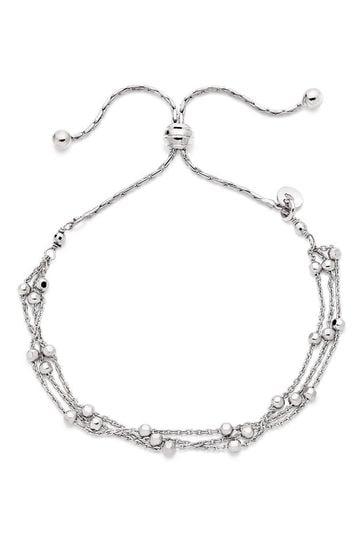 Beaverbrooks Silver Triple Strand Bracelet