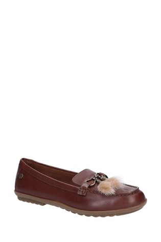 Hush Puppies Brown Aidi Puff Loafers