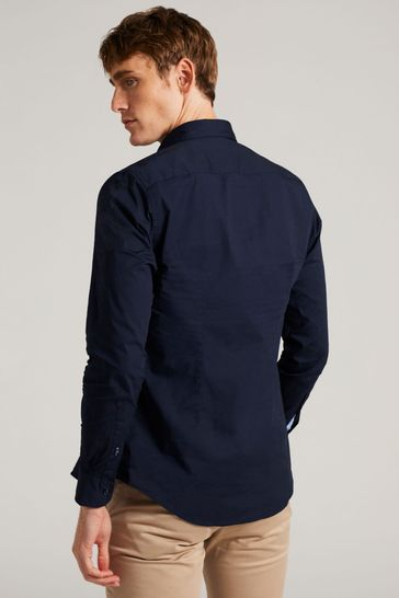 Tommy Hilfiger Navy Core Stretch Slim Poplin Shirt