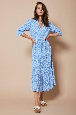 Mint Velvet Fern Print Boho Midi Dress