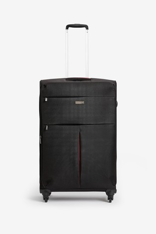 Black/Red Medium Soft Shell Suitcase