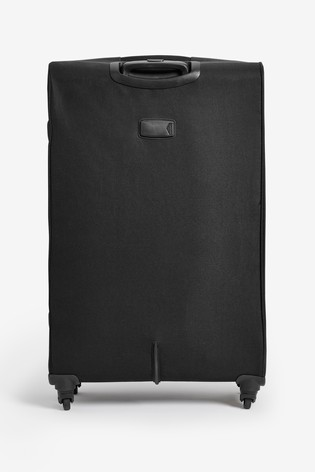 Black/Red Medium Soft Shell Suitcase