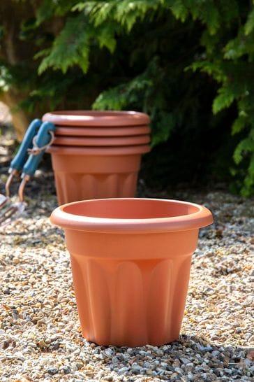 Set of 5 Wham Vista 25cm Plastic Round Planters