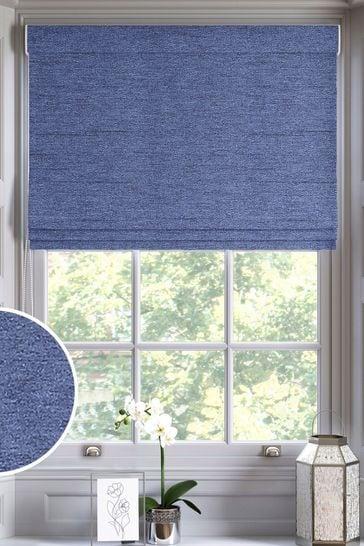 Eloise Indigo Blue Made To Measure Roman Blind
