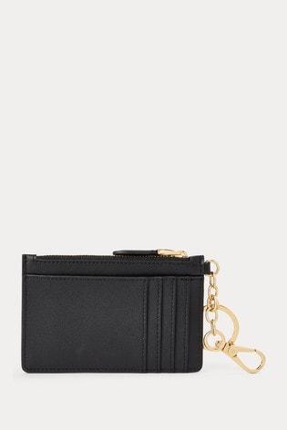 Black Lauren Ralph Lauren Black Super Smooth Leather Card Case