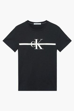 Calvin Klein Jeans Black Gold Monogram T-Shirt