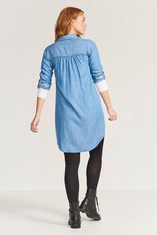 FatFace Blue Harper Denim Dress