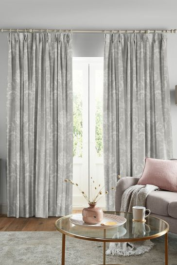 Laura Ashley Steel Josette Made to Measure Curtains