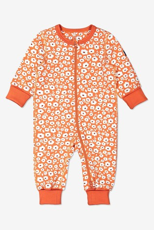Polarn O. Pyret Orange Organic Cotton Ditsy Floral Pyjamas