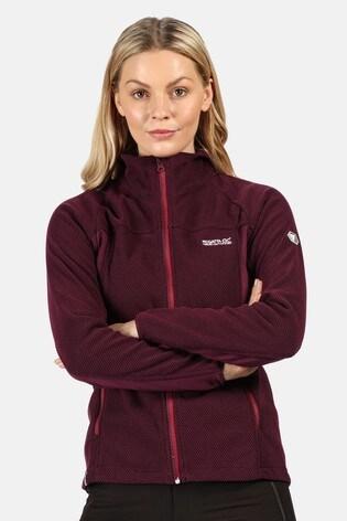Regatta Purple Womens Highton Winter Full Zip Fleece Jacket