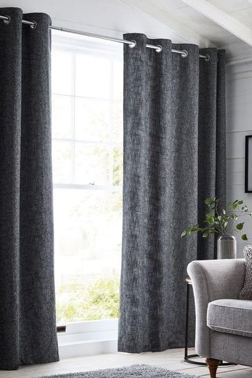 Bouclé Grey Made To Measure Curtains