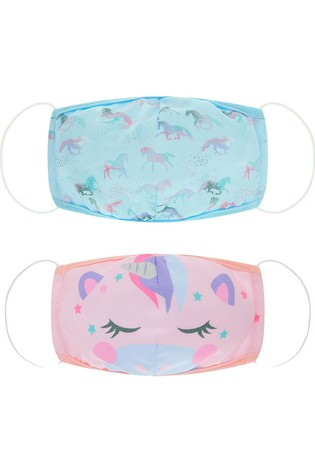 Monsoon Unicorn Friends Face Coverings Two Pack