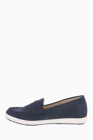 Gabor Vital Blue Soft Nubuck Mooccasin Shoes