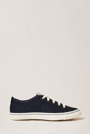 Fat Face Navy Organic Lace Up Trainers
