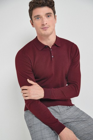 Plum Knitted Polo