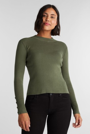 Esprit Green Stripped Sweater