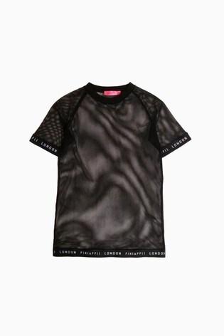 Pineapple Jacquard Fishnet T-Shirt