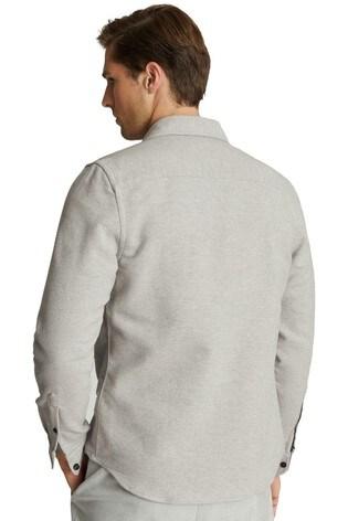 Reiss Grey Miami Twin Pocket Overshirt