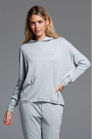 Calvin Klein Grey Form Lounge Hoodie