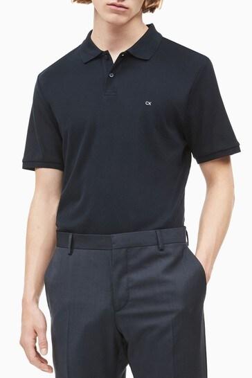 Calvin Klein Blue Refined Pique Slim Polo