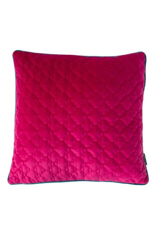 Royal Velvet Geo Quilted Cushion by Riva Home