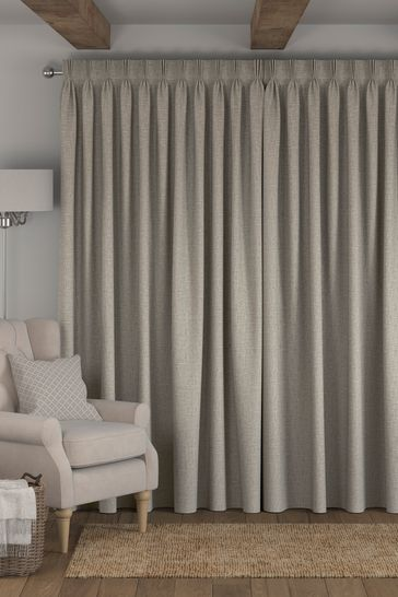Bouclé Natural Made To Measure Curtains