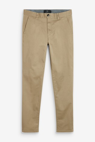 Sand Straight Fit Stretch Chinos