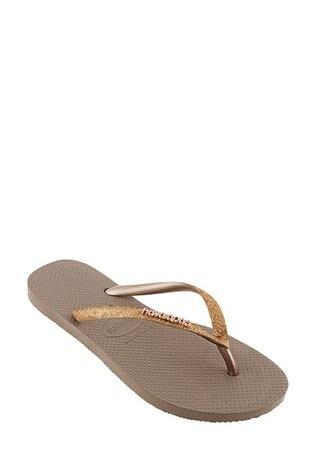 Havaianas® Kids Slim Shiny Flip Flops