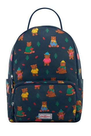Cath Kidston Blue Pocket Woodland Bear Backpack