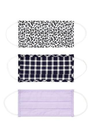 Accessorize Purple 3-Pack Cotton Face Coverings