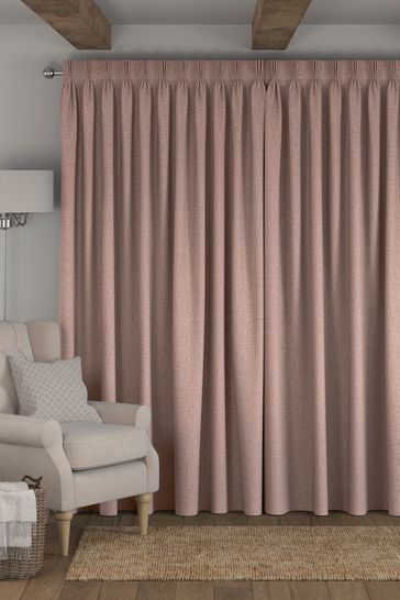 Bouclé Blush Pink Made To Measure Curtains
