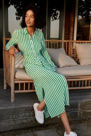 Tommy Hilfiger Green Long Shirt Dress