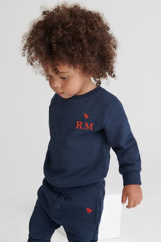 Personalised  Navy Blue Crew & Joggers Jersey Set