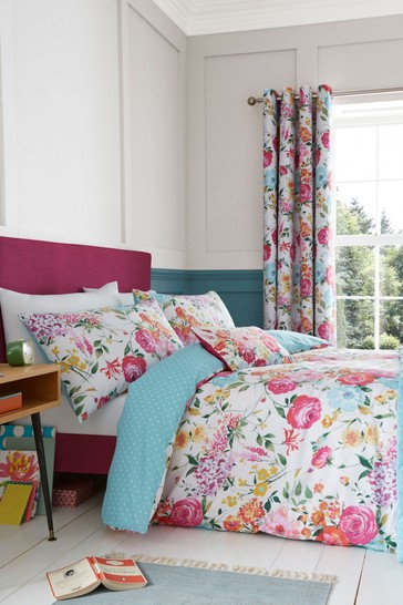 Salisbury Bright Floral Easy Care Duvet Cover and Pillowcase Set by Catherine Lansfield