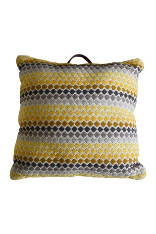 Malmo Ochre Geo Floor Cushion by Gallery Direct