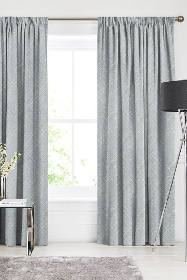 Arket Danube Blue Made To Measure Curtains
