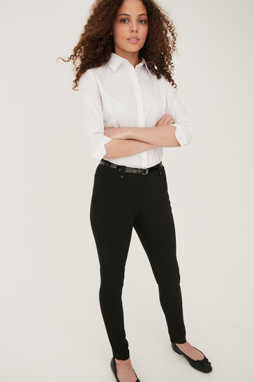 Black Senior Belted Skinny Trousers (9-16yrs)