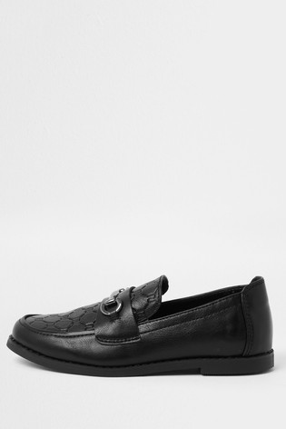 River Island Black Mono Snaffle Loafers