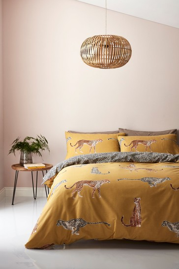 Cheetah Easy Care Duvet Cover and Pillowcase Set by Catherine Lansfield