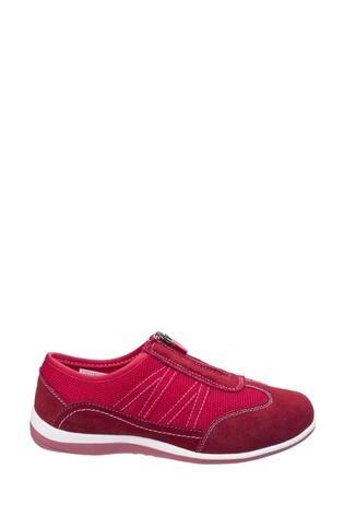 Fleet & Foster Red Mombassa Comfort Shoes