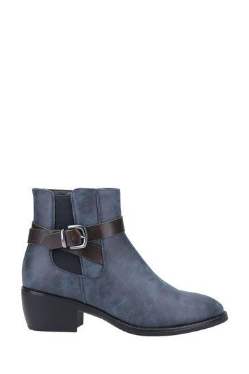 Divaz Blue Farrah Ankle Boots