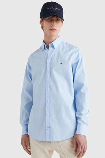 Tommy Hilfiger Blue Core Stretch Slim Poplin Shirt