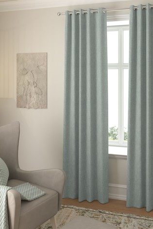 Bouclé Teal Green Made To Measure Curtains