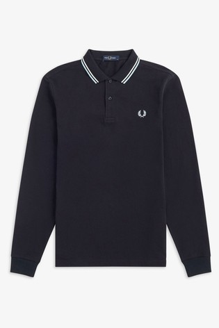 Fred Perry Long Sleeve Twin Tipped Poloshirt