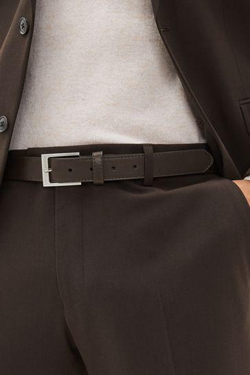 Brown Stitched Edge Belt