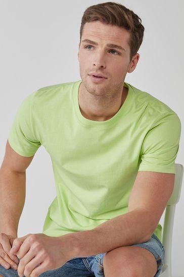 Lime Regular Fit Crew Neck T-Shirt