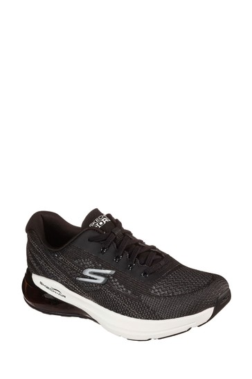 Skechers® Black Go Run Air Silver Sparkle Trainers