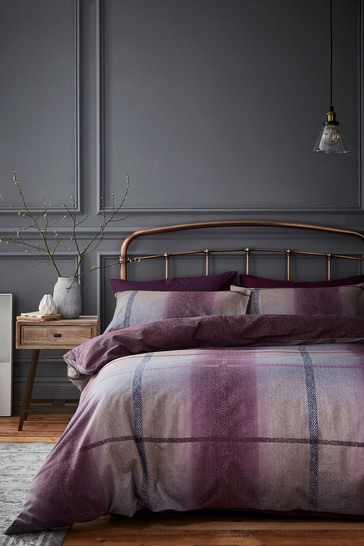 Berwick Tweed Brushed Cotton Duvet Cover and Pillowcase Set by Catherine Lansfield