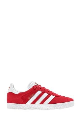 adidas Originals Gazelle Red/White Trainers