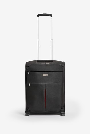 Black/Red Small Soft Shell Suitcase